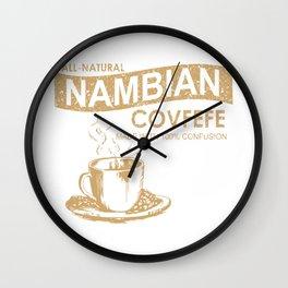 Nambian Covfefe Wall Clock