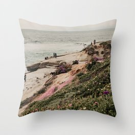 La Jolla Beach | Fine Art Travel Photography Throw Pillow