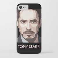 tony stark iPhone & iPod Cases featuring Tony Stark by Lany Nguyen