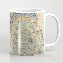 Vintage Michigan Geology Map (1873) Coffee Mug