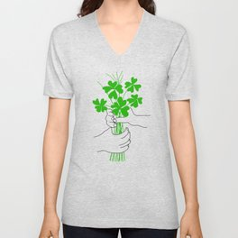 A Bouquet of Good Luck for You Unisex V-Neck