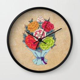 Minhwa: Peony Bouquet D Type Wall Clock