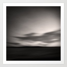 Dramatic Sky - abstract landscape Art Print