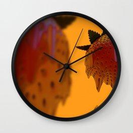 Strawberry Drip Wall Clock