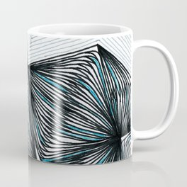 Geometric tringular net Coffee Mug