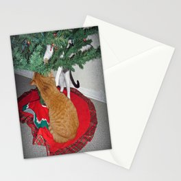 12 cats a-climbing Stationery Cards