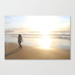 First Stepping Out onto the Beach ; Washed in White Light  Canvas Print