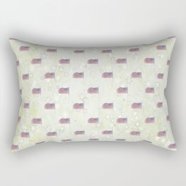 American Flag Aglow, stars in the dawn's early light, pattern Rectangular Pillow