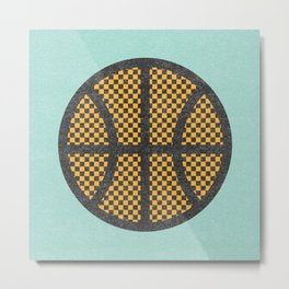 Op Art Basketball. Metal Print