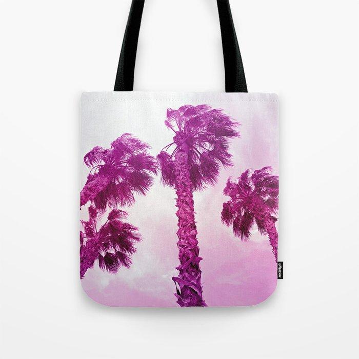 Neon Palms Tote Bag
