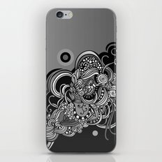 Detailed diagonal tangle, Black iPhone & iPod Skin