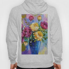 Bouquet of peonies in a vase Hoody