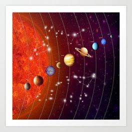 Planeten Art Print