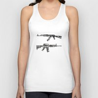 camouflage Tank Tops featuring camouflage by Steve W Schwartz Art