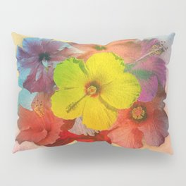 Colorful Hibiscus Bouquet Pillow Sham