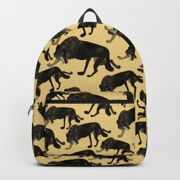 Totem black Buffalo wolf (nubilus) Yellow Backpack