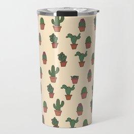 Cute Cactus Pattern Travel Mug