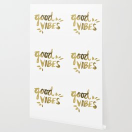 Good Vibes – Gold Ink Wallpaper