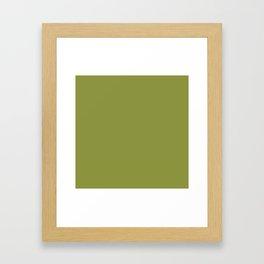 Pepper Stem 8D9440 Solid Color Block Framed Art Print