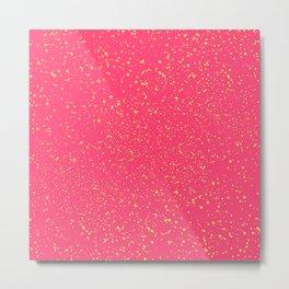 Splattered Pink Metal Print