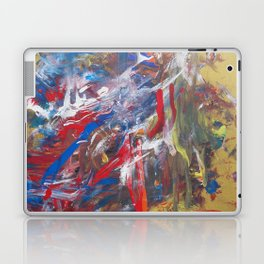 Intuitive abstract painting modern contemporary art by Ksavera Laptop & iPad Skin