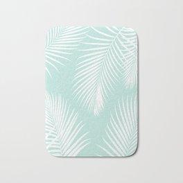 Mint Tropical Pattern Bath Mat