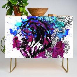 Purple Lion Spirit Credenza