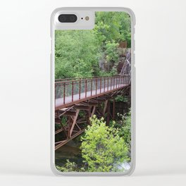 Bridge to a Waterfall Clear iPhone Case