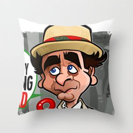 Mad Interesting Throw Pillow