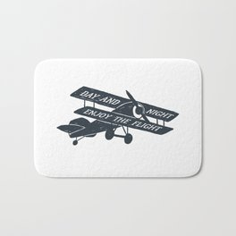 Day And Night Enjoy The Flight Bath Mat