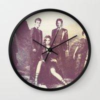 vampire diaries Wall Clocks featuring The Vampire Diaries TV Series by Nechifor Ionut
