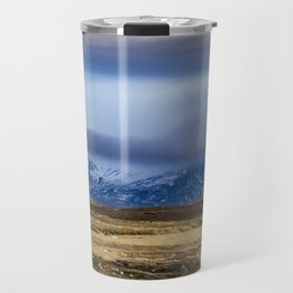 Snowy Mountains across from Tundra in the Icelandic Wilderness Travel Mug