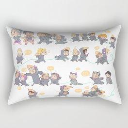 Baby crows Rectangular Pillow