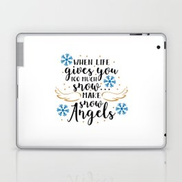 Make snow angels Laptop & iPad Skin