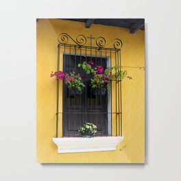 Window at Old Antigua, Guatemala Metal Print