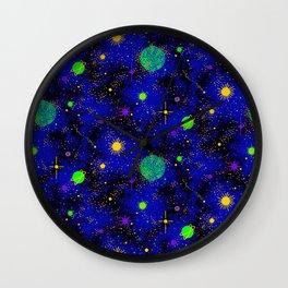 Wrinkle Planet Pattern Wall Clock