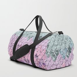 Mermaid Scales with Unicorn Girls Glitter #4 #shiny #pastel #decor #art #society6 Duffle Bag