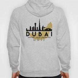 DUBAI UNITED ARAB EMIRATES SILHOUETTE SKYLINE MAP ART Hoody