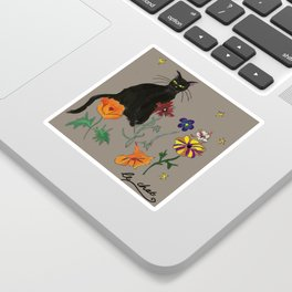 Black cat Le Chat Sticker