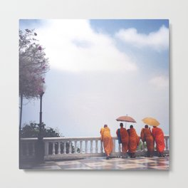 Monks at Doi Suthep Metal Print