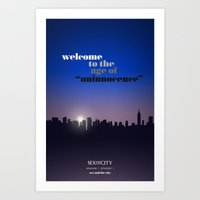 sex and the city Art Prints featuring Sex and the City — S01 E01 — Sex and the City by David Olmos