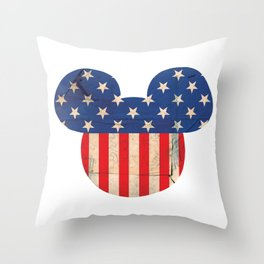 M Mouse Throw Pillow