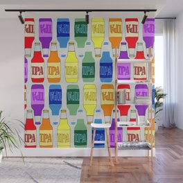 RAINBOW IPA BEER PATTERN Wall Mural