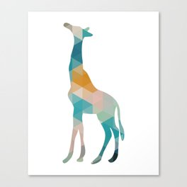 Geometric Giraffe Canvas Print