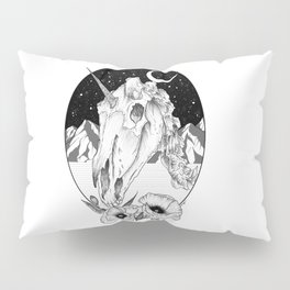 Unicorn skull of night Pillow Sham