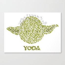 Yoda Jedi Master Canvas Print