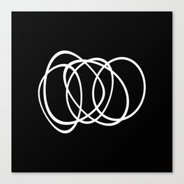 Mid Century Black And White Minimalist Design Canvas Print