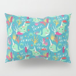Narwhal Be Unique Pattern Pillow Sham