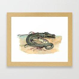 Serpentia ichneumonia (clean version) Framed Art Print