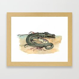 Serpentia ichneumonia (clean version) Framed Art Print
